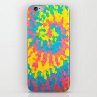 tie dye iPhone & iPod Skins featuring Tie Dye by Jillian Stanton