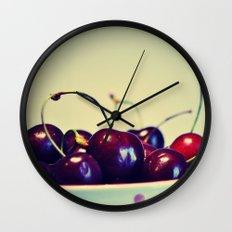 Cherry blues Wall Clock