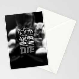 """""""DARK KNIGHT RISES"""" - BANE - Typography Poster Stationery Cards"""