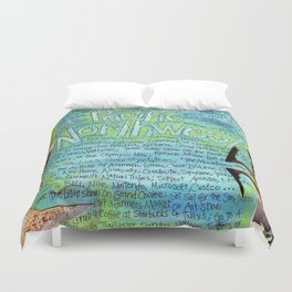 Northwest by Seattle Mixed Media Artist Mary Klump Duvet Cover