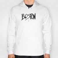 boston Hoodies featuring Boston by Talula Christian