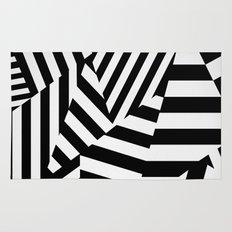 RADAR/ASDIC Black and White Graphic Dazzle Camouflage Rug
