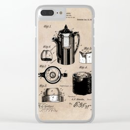 patent China Coffee pot - Blanke - 1909 Clear iPhone Case