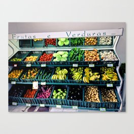 Fruitas & Verduras Canvas Print