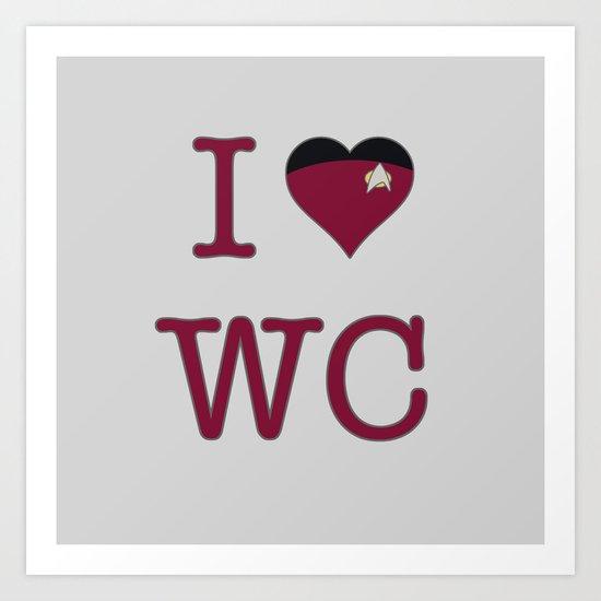 I Heart Wesley Crusher Art Print