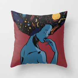 I Contain Galaxies Throw Pillow