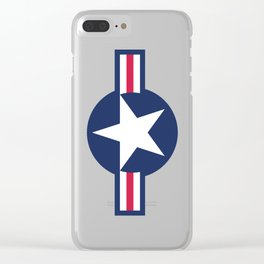 US Air-force plane roundel HQ image Clear iPhone Case