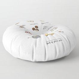 Foods of Gilmore Girls Floor Pillow