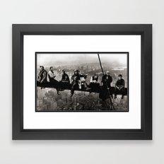 Captains atop a Skyscraper Framed Art Print