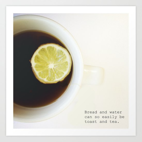 Toast & Tea 2 Art Print