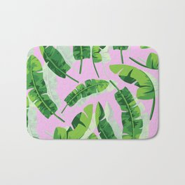 Banana Leaf (Pink) Bath Mat