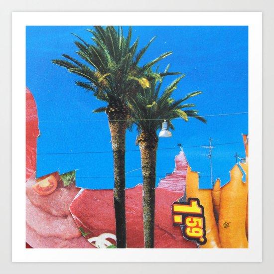 Meat Dream Party Land Series · Meat Desert City Dream Town · QV Art Print