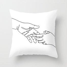 Touching Throw Pillow