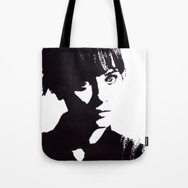 Zooey Deschanel Silhouette Portrait. Tote Bag