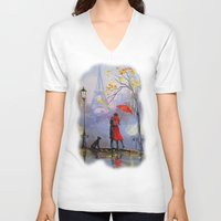 romantic V-neck T-shirts featuring Romantic by OLHADARCHUK