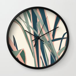 Colorful Plant Wall Clock