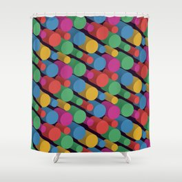 3D X Pipes II Shower Curtain