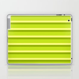 Lime Green Stripes Laptop & iPad Skin