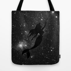 The Little Mermaid Black and White Space Tote Bag