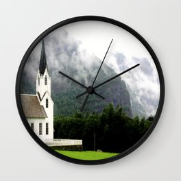 Quiet Sunday Wall Clock