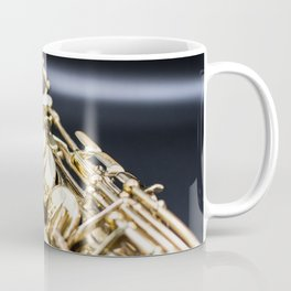 Alto saxophone black background Coffee Mug