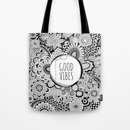 Good Vibes Doodle Tote Bag