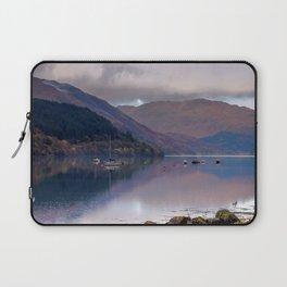 Argyll Scotland loch peaceful boats Laptop Sleeve