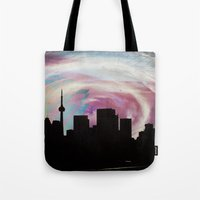 toronto Tote Bags featuring Toronto by bMAR10