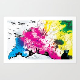 Dropping Science Art Print