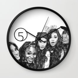 Fifth Harmony Group Drawing Wall Clock