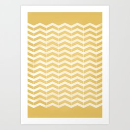 yellow mellow Art Print