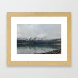 Barrier Lake in the Fog Framed Art Print