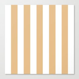 Gold (Crayola) pink - solid color - white vertical lines pattern Canvas Print