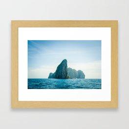 Paradise rock island 2 Framed Art Print