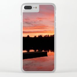 Cottage Sunset Clear iPhone Case