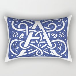 Floral Letter Type - Letter A Rectangular Pillow