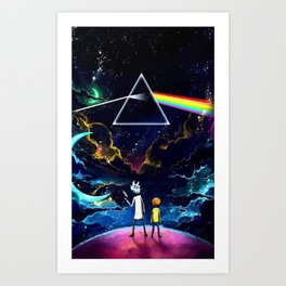 The dark side of Morty and Rick Art Print