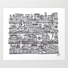 Box City  Art Print