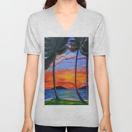 Majestic Maui Moment Unisex V-Neck
