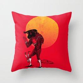 Matador's Dilemma Throw Pillow