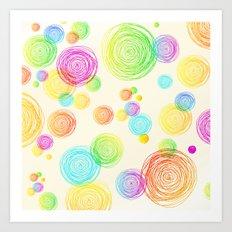 I'm Seeing Circles Art Print