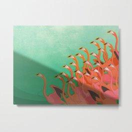 Fresco of the flamingoes. Metal Print