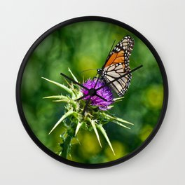 monarch with mustard Wall Clock