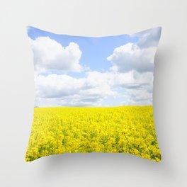 Field of Rapeseesd Throw Pillow