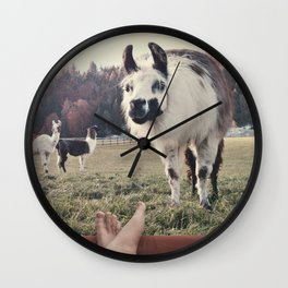 NEVER STOP EXPLORING - BACKCOUNTRY CAMPING Wall Clock
