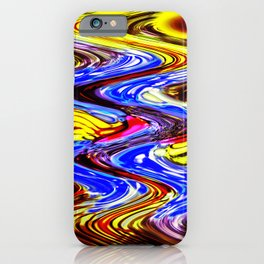 A More Colorful Flow iPhone Case
