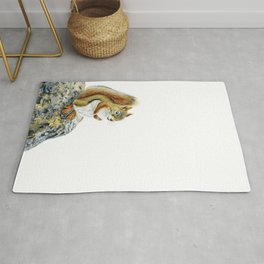Bright-eyed and Bushy-tailed by Teresa Thompson Rug