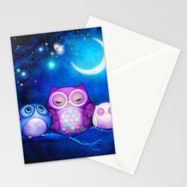 NIGHT OWLS Stationery Cards