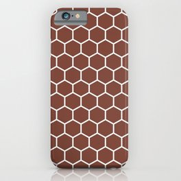 Honeycomb (White & Brown Pattern) iPhone Case