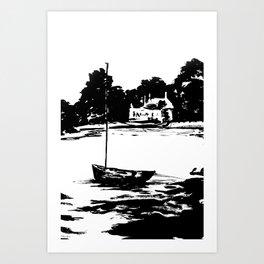 Le Moulin à marée de Pen Castel - Arzon - Bretagne, Morbihan (56) [format portrait] Art Print